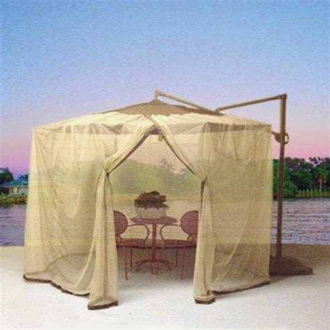 Mosquito Netting For Patio Umbrella Shop Shade Trends Mosquito Net For Patio Cantilever Umbrella At Lowes