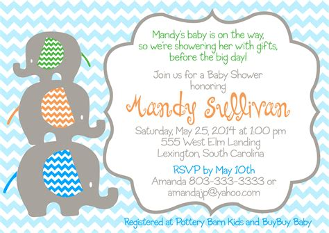 Elephant Themed Baby Shower Invitations by Baby Shower Invitations Elephant Theme Eysachsephoto