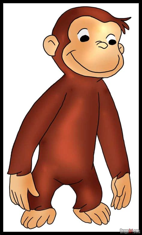curious george pin baby tv colouring pages on