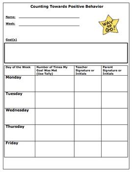 Chicago School Report Card Template by Positive Behavior Tally Sheet By The Duckling