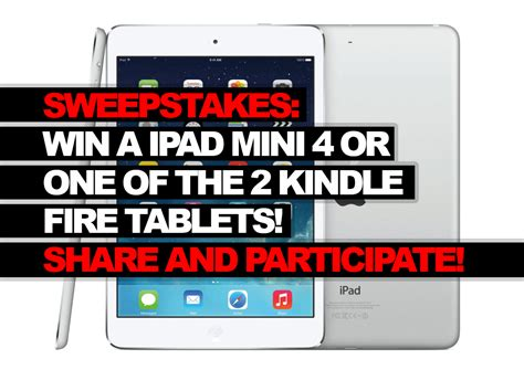 Amazon Ipad Giveaway - sweepstakes enter to win a ipad mini 4 or one of the 2