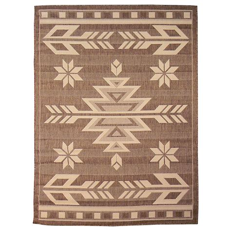 area rugs southwestern design donnieann bahamas 672 mocha color southwestern design 5 x7 indoor outdoor area rug home