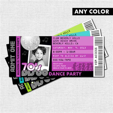 disco ticket invitations 70 s birthday by nowanorris
