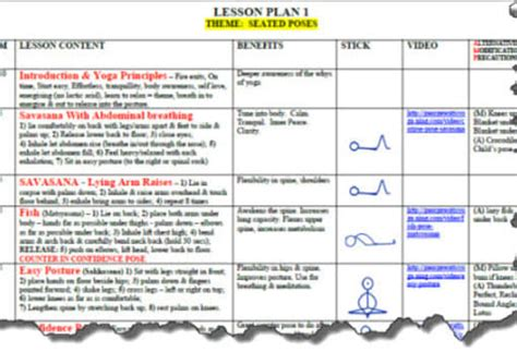 lesson plan template yoga send you a yoga lesson plan template in microsoft word by