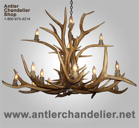 Antler Chandelier Shop Real Antler Two Tier Elk Deer Chandelier 12 Lights