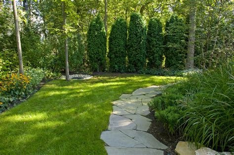 landscaped backyard ideas cool underground troline convention chicago traditional