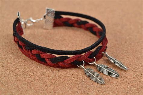 pulseras de cordon de cuero madeheart gt pulsera artesanal trenzada de cord 243 n de gamuza