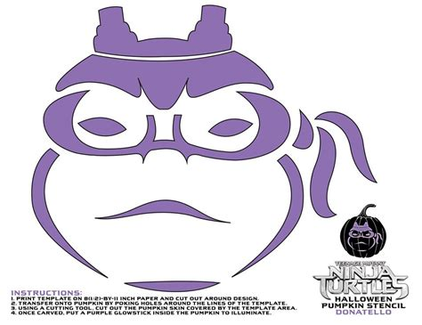 tmnt pumpkin template mutant turtles pumpkin stencils for