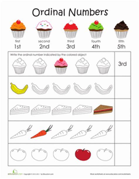 Ordinal Worksheets For Kindergarten by Teaching Ordinal Numbers Ordinal Numbers Number
