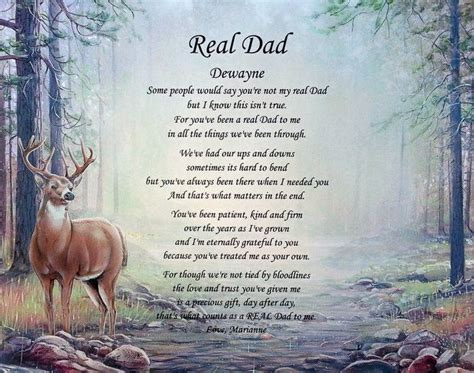 step fathers day poems quot real quot personalized step poem birthday s