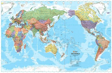 printable world map pacific centered world political map pacific centred hema buy hema