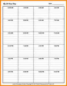 7 24 hour schedule template authorization letter