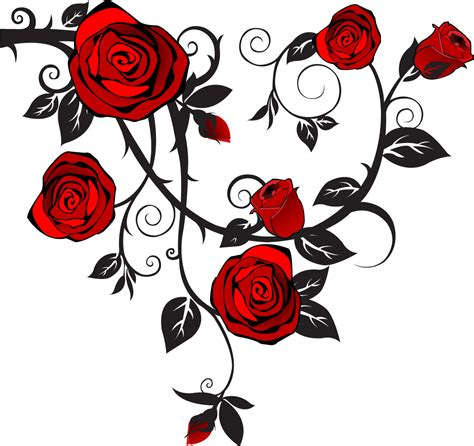 rose tattoo clipart vector roses cliparts co