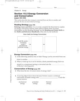 section 15 2 energy conversion and conservation section 7 1 describing reactions