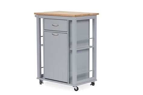 Cabinet Express Yonkers by Baxton Studio Yonkers Light Grey Kitchen Cart