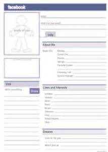 facebook profile template for students