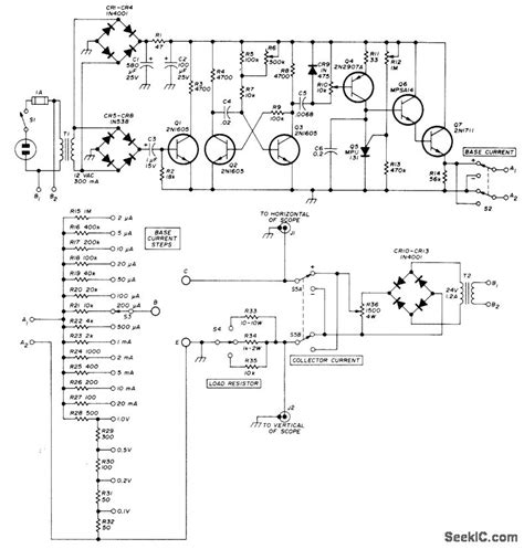 diode curve tracer schematic curve tracer basic circuit circuit diagram seekic