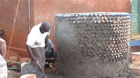 Concrete Block Houses water tank built with plastic bottles youtube