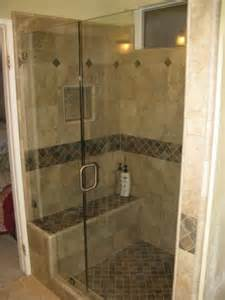 inline showers with seats and pony walls