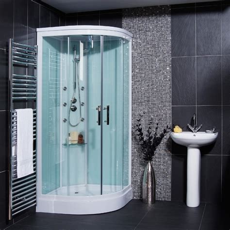 Shower Cabin Aqualine Hydromassage Shower Cabin With 6 Jets