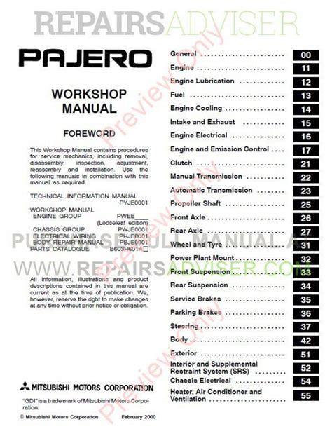 free auto repair manuals 1994 mitsubishi montero on board diagnostic system service manual car repair manuals online pdf 1994 mitsubishi montero spare parts catalogs