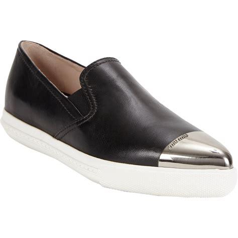 Miu Miu Slipon miu miu metallic toe slip on sport sneakers at barneys