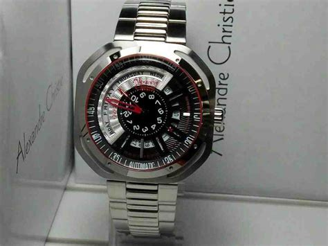 Jam Tangan Alexandre Chistie Ac 6388 Silver Ring Black jual jam tangan pria alexandre christie ac 3035 automatic