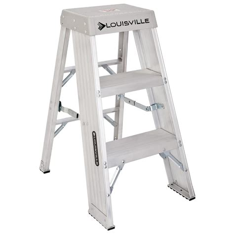 3 step stool 300 lb capacity louisville ladder 3 ft aluminum step stand with 300 lb