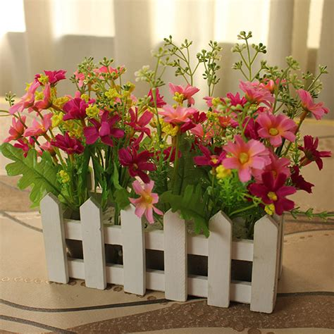 Artificial Flowers For Dining Table 20cm Artificial Flowers Home Garden Dining Table Wedding Decoration Lavender