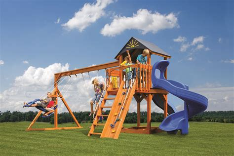 king swing sets king swings the starboad escape wooden swingsets lancaster