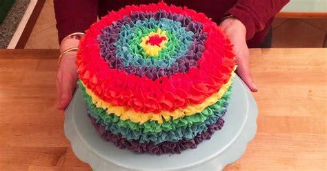 this rainbow cake has a sweet inside diy cozy home
