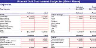 Golf Tournament Budget Template by Golf Tournament Planning Resources Golfregistrations