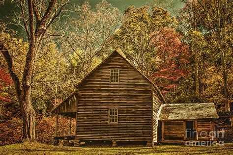Cabins Great Smoky Mountains by Tipton Cabin In Great Smoky Mountains Photograph By Priscilla Burgers