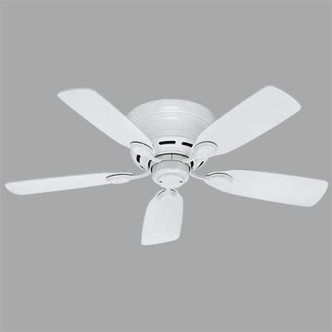 low profile 42 in indoor snow white ceiling fan 51059