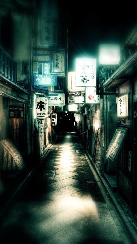 japan dark street iphone   hd wallpaper hd