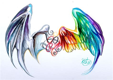 watercolor tattoo wings gallery watercolor wing tattoos