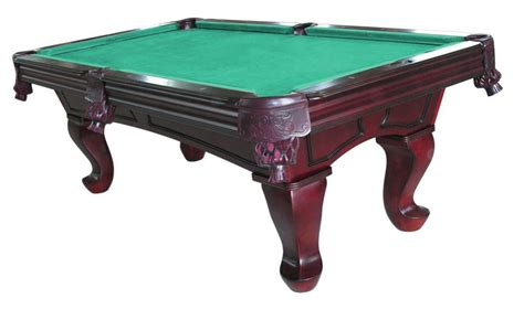 furniture pool table with spoon leg in mahogany pool
