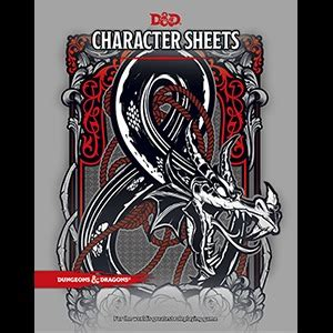 Dungeon Dragons Adventure System Large Villain Card Template 5th edition character sheets set of 24 sheets