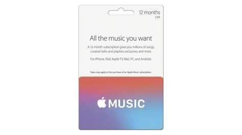 How To Get Apple Gift Card - apple offers discounted 12 month apple music subscription for 99 via gift card