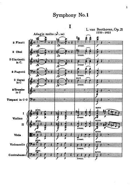 con brio 3rd edition symphony no 1 op 21 beethoven ludwig van imslp