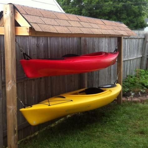 Canoe Storage Shed by Kayak Outside Storage Kayak Ideas