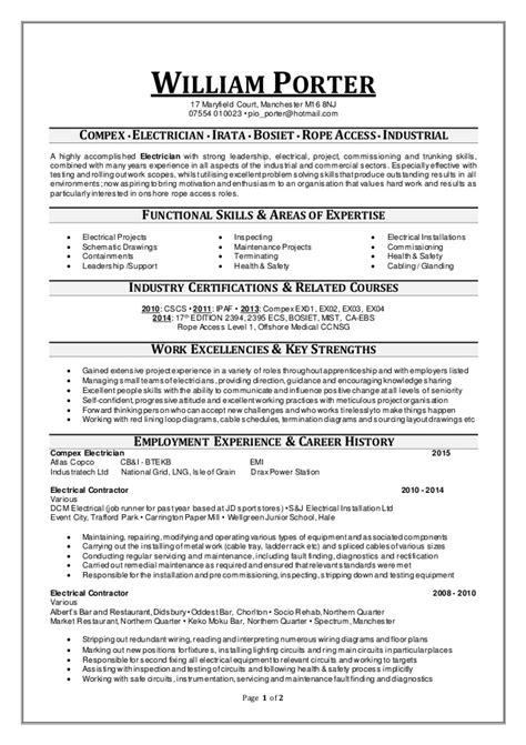 Cv Template Goldman Sachs William Porter Cv 2 Compex Undated 3