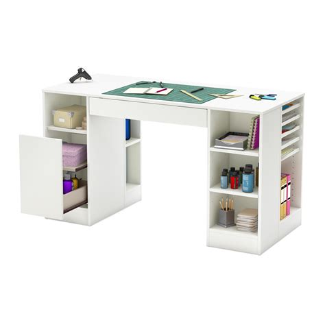 craft table with storage counter height craft table storage organizer hobby sewing