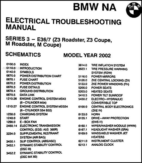 bmw electrical troubleshooting manual e36 2002 bmw z3 and m roadster coupe electrical troubleshooting manual