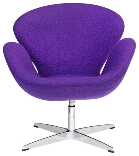 Swivel Swan Chair In Purple Contemporary Armchairs And Purple Swivel Chair