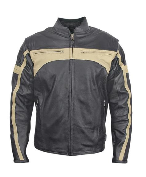 Romer Padded Motorcycle Jacket Leather4sure Men