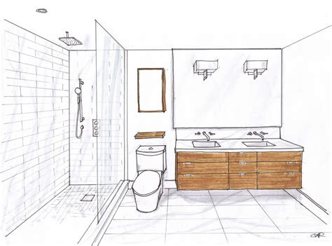 bathroom drawings creed 70 s bungalow bathroom designs