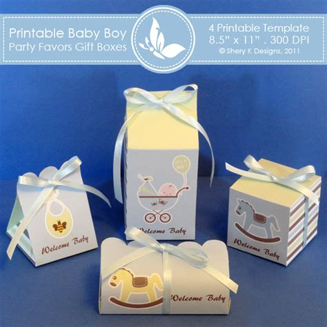 templates boxes for favors gifts baby boy party favors gift box 2 shery k designs