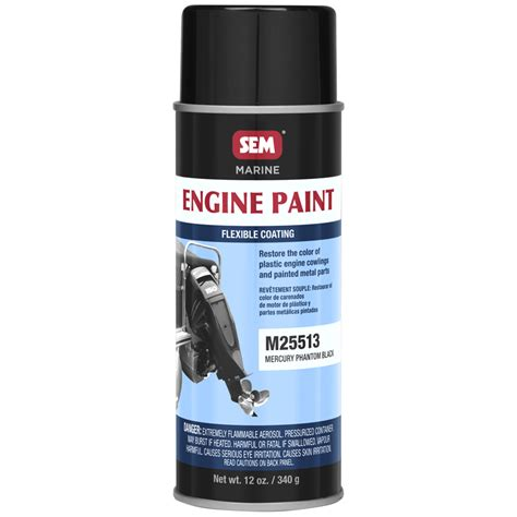 sem m25513 mercury phantom black outboard engine paint