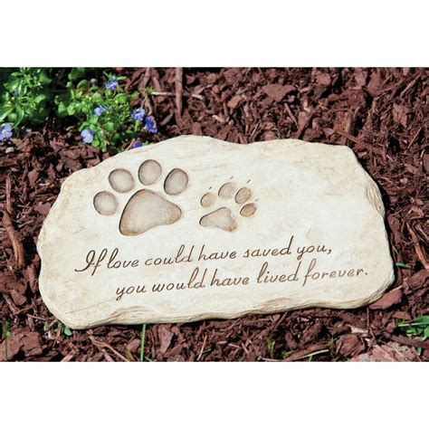 Pet Memorial Garden Stones by Evergreen Enterprises If Could Saved You Pet